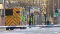 Police activity in Tradeston