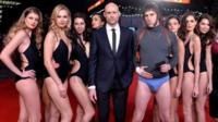 """Mark Strong and Sacha Baron Cohen attend the World premiere of """"Grimsby"""" at Odeon Leicester Square on February 22"""