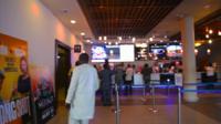 A multiplex cinema in Lagos, Nigeria