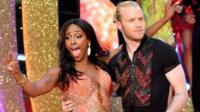 Alexandra Burke and Jonnie Peacock