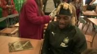 Newcastle United's new signing Allan Saint-Maximin