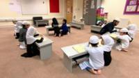 Muslim children at a madrassa