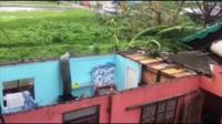 Destruction caused by Super Typhoon Mangkhut