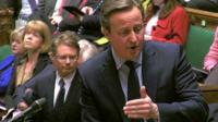 David Cameron addressing the House of Commons