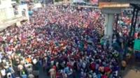 Crowds at Bandra station
