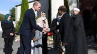 Prince William visiting Masjid Al Noor