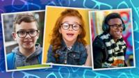 Kids wearing glasses