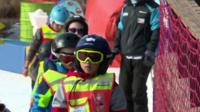 Young skiers line up at Lesotho resort