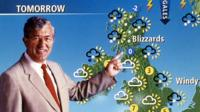Bill Giles as a BBC weatherman
