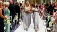 Carly Williams collapsed without warning as she walked down the aisle as maid of honour.