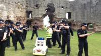 North Wales Police in 'running man' dance challenge