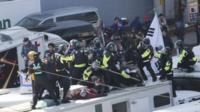 South Korea police clash with protesters