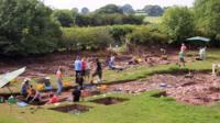 Trellech archaeological dig