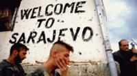 Welcome to Sarajevo sign