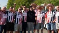 Fans from Newcastle and Sunderland are teaming up for a fundraising road trip to Benidorm.