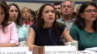 Representatives Alexandria Ocasio-Cortez and Rashida Tlaib give evidence to the House Oversight Committee following their visit to detention facilities on the southern border.