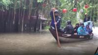 Flooded Vietnamese street