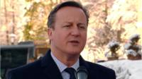 David Cameron speaking in Germany