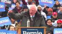 Bernie Sanders speaks at his campaign launch