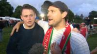 Wales supporters at Cardiff fan zone