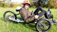 Megan on bike