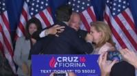 Ted Cruz accidentally punches his wife Heidi while hugging a supporter - 3 May 2016