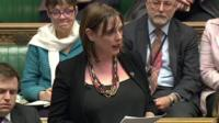 Jess Phillips in the House of Commons