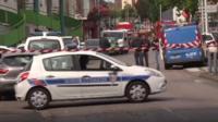 Полиция у места нападения на церковь
