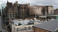 Fire damaged art school and ABC