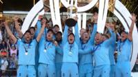 England lift World Cup trophy
