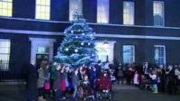 Downing Street Christmas tree 2015