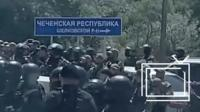 Дорожный знак на границе Чечни и Дагестана