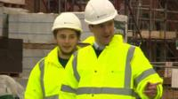 George Osborne at a construction site the day after the 2015 Spending Review