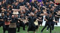 A haka is performed at the memorial service of Jonah Lomu