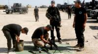 Iraq's counter-terrorism force ahead of an operation to re-take the Islamic State-held City of Falluja