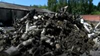 Pile of burnt dummies
