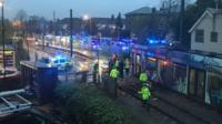 Scene of the tram incident