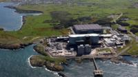 Wylfa nuclear power station from the air
