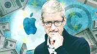 Apple grahic showing Tim Cook