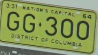 The licence plate
