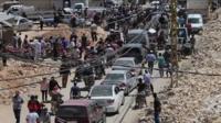 People leaving Arsal in Lebanon - 2 August 2017