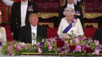 The Queen and President Trump
