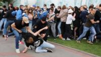 Задержания в Минске.
