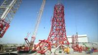 Construction of the ArcelorMittal Orbit's at the Olympic Park.