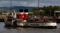 The Waverley carries passengers on the River Clyde