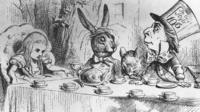 A scene from Alice in Wonderland