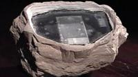 fake rock containing electronic equipment