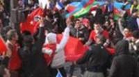 Turkish demonstrators in Paris