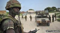 Kenyan soldier in Somalia