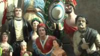 Figureheads at the Cutty Sark